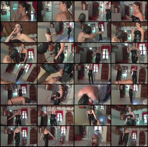 Sadistic Bullwhipping In Leather And High Heels Female Domination