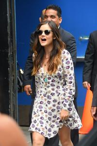 Lucy Hale outside of the GMA studios in NYC 06-30-2014